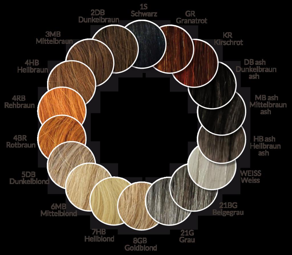 Dunkelblond Farbpalette